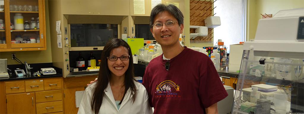Debbie Moreira and Dr. Houng-Wei
