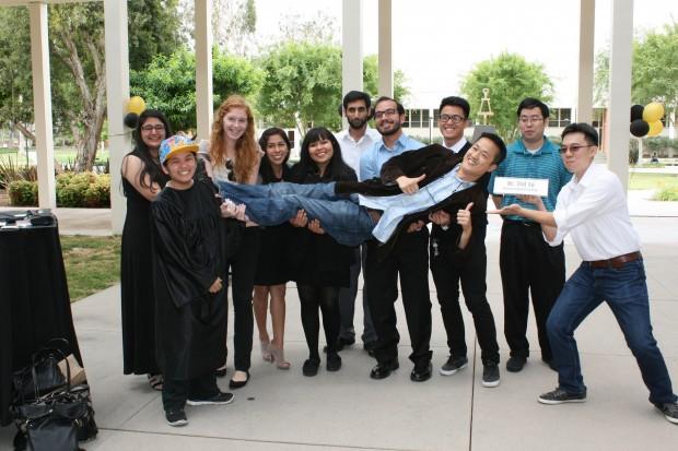 Student - Professor celebration
