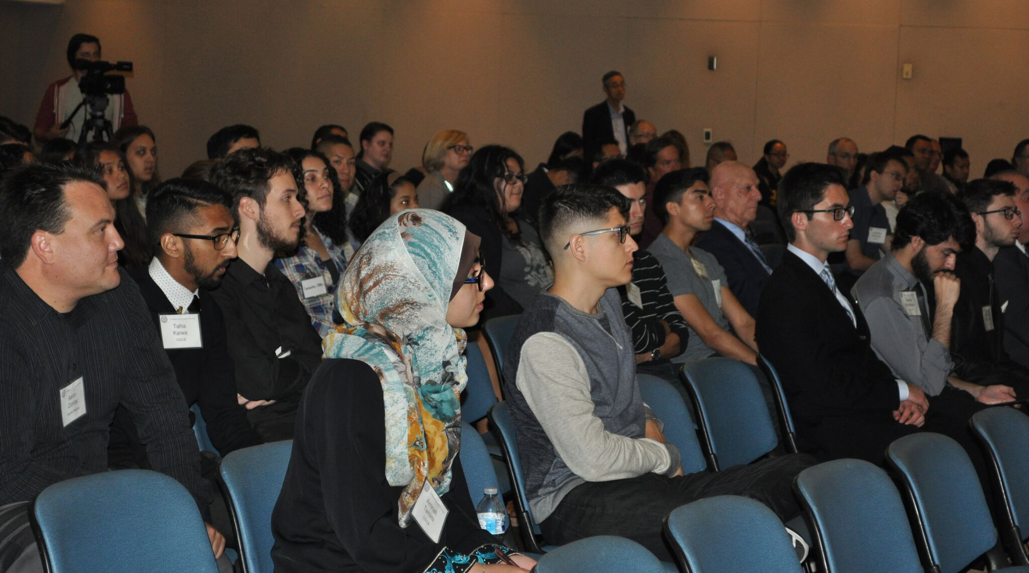 attendees at engineering lecture