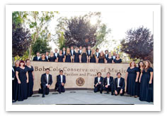 BCCM Choirs in front of the BCCM entrance.