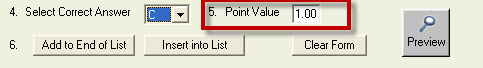Point Value