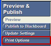 Preview & Publish: Print Options