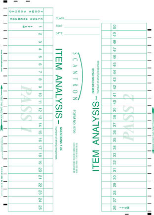 Scantron Form 9700 page 1