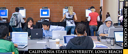 CSULB students working with campus computers