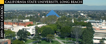 Aerial View of CSULB with Pyramid