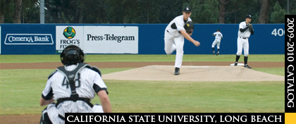 CSULB Dirtbags Pitcher warms up in between innings