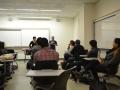 students listening to speaker