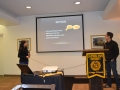 students conducting presentation