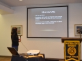 student conducting presentation